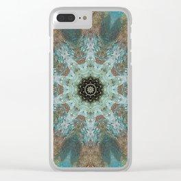 Rustic Fountain Mandala Clear iPhone Case