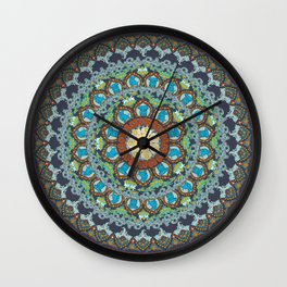 Elephant yoga Medallion Wall Clock