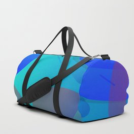 Purple Blue And Green Abstract Design Duffle Bag
