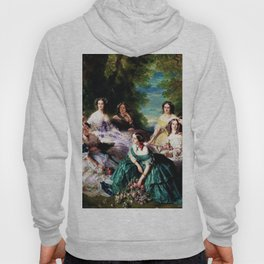 "Franz Xaver Winterhalter's masterpiece ""The Empress Eugenie surrounded by her Ladies in waiting"" Hoody"