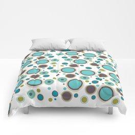 Aqua Circles Comforters