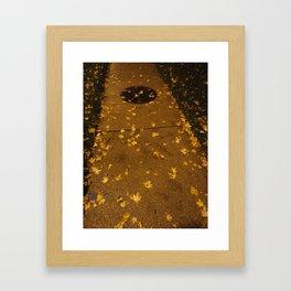 Poured Gold Framed Art Print