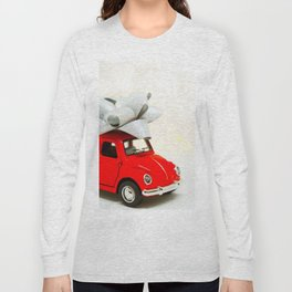 Red Car Christmas Present (Color) Long Sleeve T-shirt