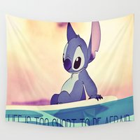 stitch Wall Tapestries featuring Stitch by Chiaris