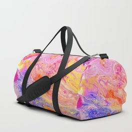 Pink and Yellow Abstract Duffle Bag