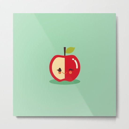 Lil' Apple Metal Print