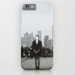No face in Shanghai iPhone Case