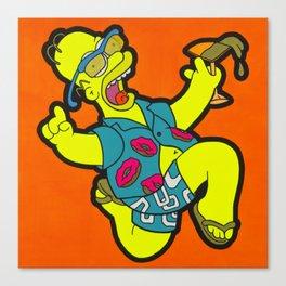 Woo Hoo! - homer pop art painting Canvas Print