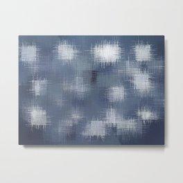 grey and black plaid pattern Metal Print