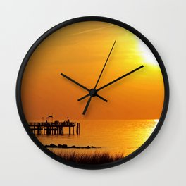 Ocean evening III Wall Clock