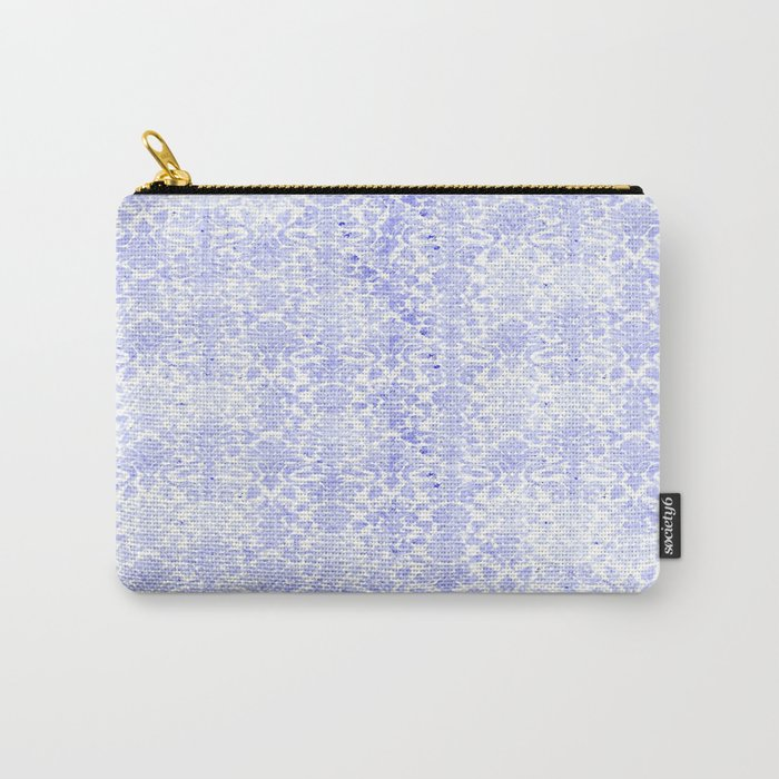 Periwinkle Damask Carry-All Pouch