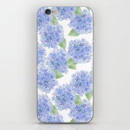 Elegant lavender lilac watercolor hydrangea floral iPhone Skin