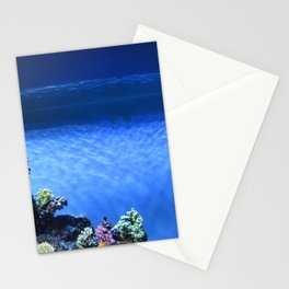 Fish in blue tank Stationery Cards