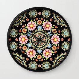 Flower Crown Bijoux Wall Clock