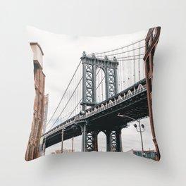 Manhattan Bridge, New York City Throw Pillow