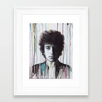 bob dylan Framed Art Prints featuring Bob Dylan by Denise Esposito