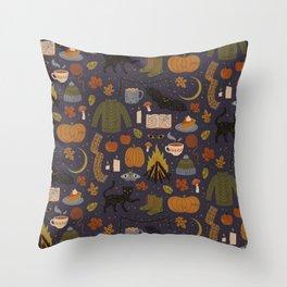 Autumn Nights Throw Pillow