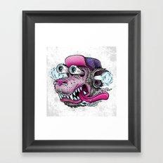 Wolf Dude Framed Art Print