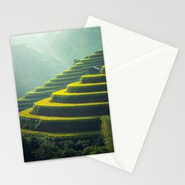 Scenic view of Rice Paddy Stationery Cards