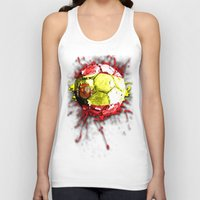 spain Tank Tops featuring football  spain by seb mcnulty