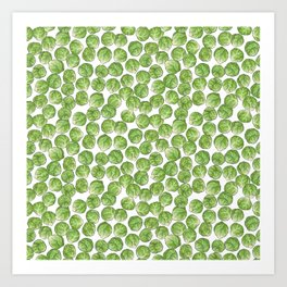 Brussel Sprouts pattern Art Print