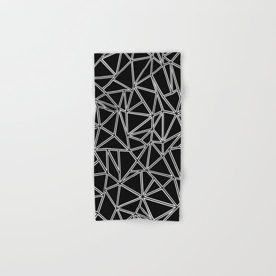 Abstract New White on Black Hand & Bath Towel