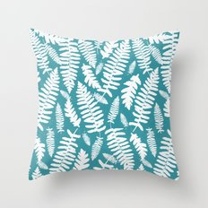White Ferns II Throw Pillow