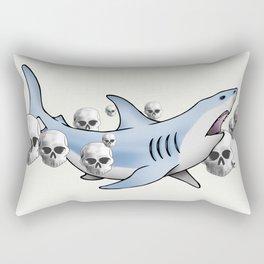 Shark & Skulls Rectangular Pillow