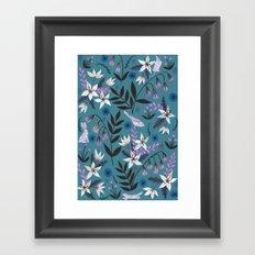 Hidden Critters Pattern Framed Art Print