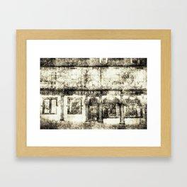 Greyfriars Bobby Pub Edinburgh Vintage Framed Art Print