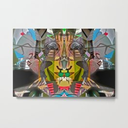 Abstract Brother of Mr. Potato Head Metal Print