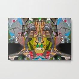 Abstract Brother of Mr. Potato Head Metal Print