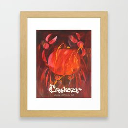 Cancer the Crab Poster Framed Art Print