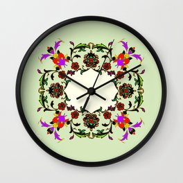 light green medalion Wall Clock