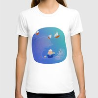 boats T-shirts featuring Little Boats by La Lanterne