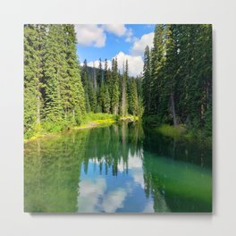 Pacific North West Alpine Lake Metal Print