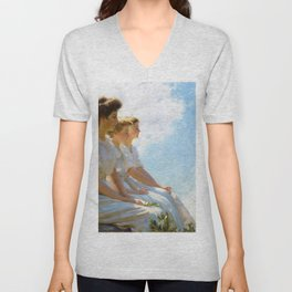 Charles Courtney Curran - On The Heights - Digital Remastered Edition Unisex V-Neck