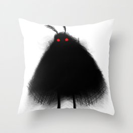 Your Fellow Friendly Cryptid: Mothman Throw Pillow