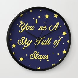 Sky Full Of Stars Wall Clock