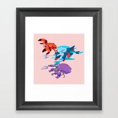 Battle Beasts - trio 9 Framed Art Print