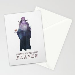 Mind Flayer (Typography) Stationery Cards