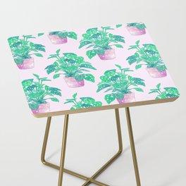 Tropical Houseplant Side Table