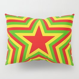 colorful concentric rasta star pattern Pillow Sham