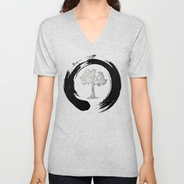 Yggdrasil Norse Cosmology Ash Tree Of Life Good Evil Eternity Zen Unisex V-Neck