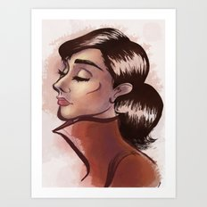 Simply Audrey Art Print
