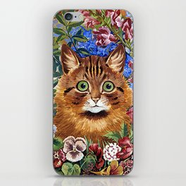 Louis Wain's Cats - Cat In the Garden iPhone Skin
