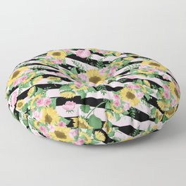 Angelic Floral P1 Floor Pillow