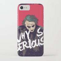 the joker iPhone & iPod Cases featuring Joker  by FourteenLab