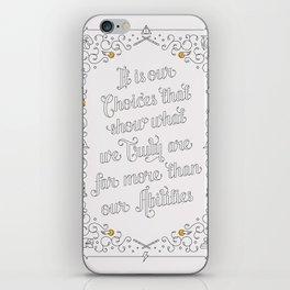 Harry Potter Typographic Quote iPhone Skin
