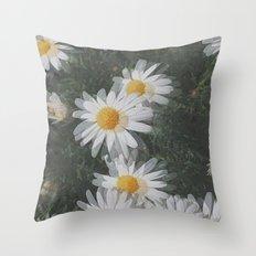 Trippy Daisies Throw Pillow